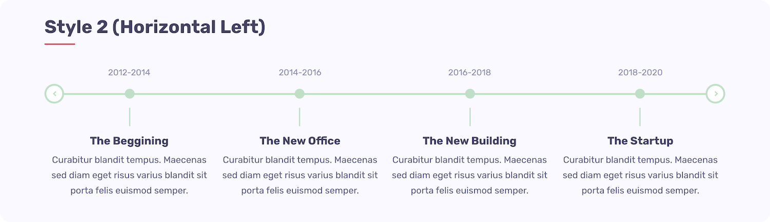 Quick Timeline - Style 2